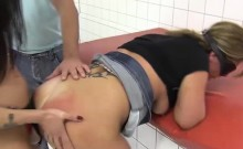 Chubby woman gets fisted and fucked hard by her two hot and