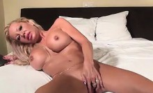 Mature Blonde Whore Using A Thick Dildo