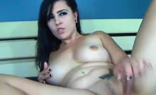 Busty Hot Chick Fucked by her Huge Dildo on Cam