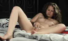 Sweet chick gapes narrow cunt and gets deflorated