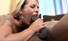 Busty blonde milf Joclyn Stone has a black stud banging her hairy cunt