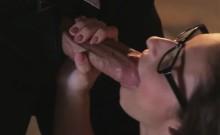 Cute secretary having pasionate sex action on office desk