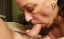 Mature heartbreaker experiments with swallowing a hard pist
