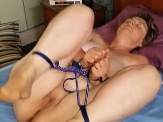 Naughty mature bombshell loves getting tied up before fucki