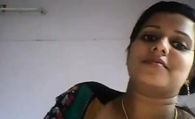 Partner shows that are Indian breasts at camera