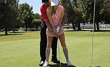 Hot Teen Karla Kush Seduces Golf Course Employee