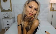 Beauty Blonde Babe Pounds Her Pussy