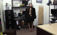 Slutty cute babe fucked from behind in the office