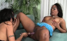Slutty black lesbos dildo lesbian hot action