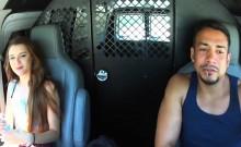 Teen Alex Mae Fucked In Van Hitchhiker Blowjob