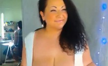 Free Sexy Curvy Huge Breast MILF Giving Dildo a Nice
