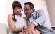 Ideal schoolgirl gets teased and drilled by her older mentor