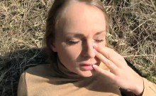 Pretty amateur blonde eurobabe pounded for a few bucks