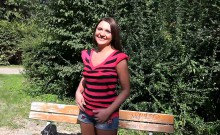 Sexy Czech Babe Flashes Boobs And Screwed In The Park
