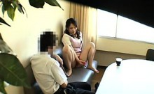 Adorable Oriental teen has sex with her boyfriend in the lo