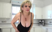 Unfaithful british milf lady sonia shows off her large ballo