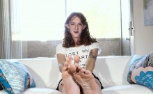 Foot Teasing Ts Sensually Showing Her Soles