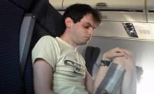 Cumming On Airplane
