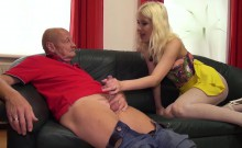 Sexy Blonde With A Hot Body Gives An Amazing Blowjob To An