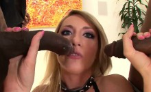 Hot interracial threesome with a stunning blonde