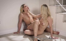 Girlfriends AJ and Stella go home for a shower and sex