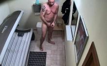 Czech Boy Jering Cock In Public Solarium