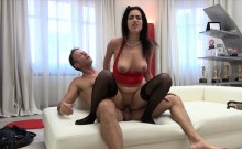 Curvy Nikky Perry gets her muff drilled real hard and deep