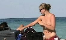 Nude beach voyeur films sexy ass women