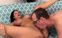Mature Brunette Plays with Herself and Fucks
