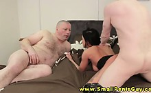 Busty SPH femdom bitch makes fun of tiny dick dude