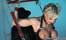 Two beauties get fucked in a latex dungeon