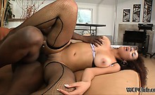 Serena loves a huge cock in her perfect pussy