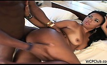 Juicy ebony babe gets some big dick in her asshole