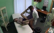 Redhead patient getting fucked hard by her doctor
