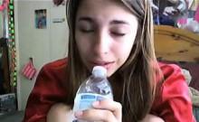 Blonde Teen Babe Webcam Dildo BJ 2