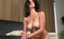 Shae Summers Gets Her Big Tits Oiled And Rubbed