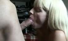 Pregnant Blonde Slut Sucking Cock
