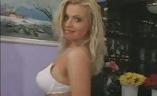 Big Boobed Blonde in Lingerie