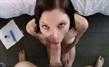 Leggy amateur likes rough face fucking