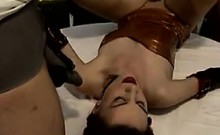 Slut Fucked And Pissed On At A Dinner Party