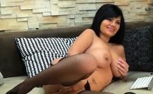 Brunette Beauty With Big Tits Masturbating