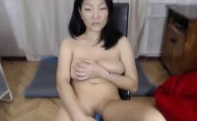 Cute Asian MILF Big Tits on Webcam