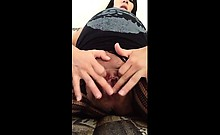 Expectant Woman With Meaty Vagina Masturbating