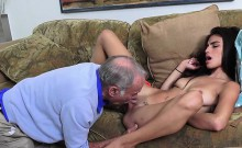 Broke Teen Michelle Michaels Gets Licked By Rich Old Guy