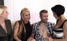 Lucky guy fucks Shy Fox and her busty friends