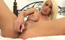 Hot Blonde Riley Jenner Fucking her Pussy Solo