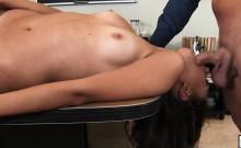 Hot Sexy Brunette Big Booty Fucked On Desk Maya Grand