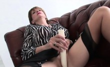 Unfaithful english milf gill ellis shows her gigantic breast