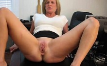 Hot blonde fingering her tight hole