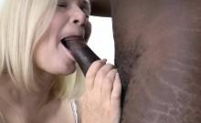 Older busty British Grandma takes creampie from black cock